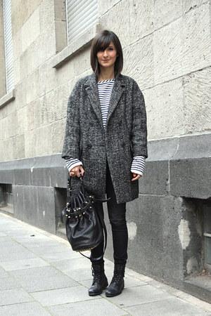oversize coat Etoile isabel marant coat - combat boots Royal Republiq boots