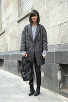 oversize coat Etoile isabel marant coat - combat boots Royal Republiq boots