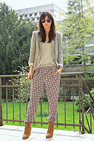 lace up wedges Zara shoes - Zara pants