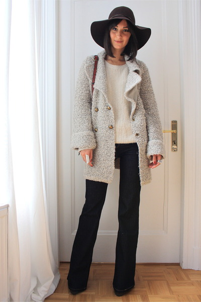 Zara coat - wide leg jeans Zara jeans