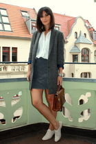 Massimo Dutti coat - Zara blouse - COS skirt