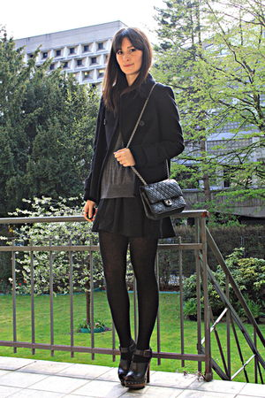 cape Zara jacket - clogs Zara shoes - H&M skirt