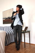 All Saints boots - Zara jacket - h&m divided blouse
