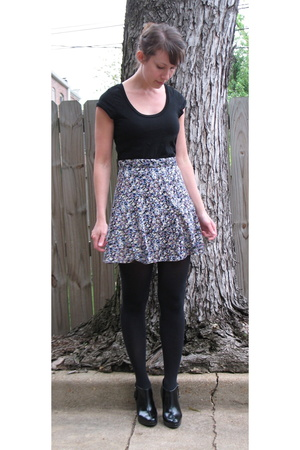 tiny florals high waisted skirt