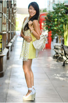 CC Skye ring - light yellow Angelys Balek dress - ivory Chanel bag