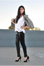 black dRa blazer - black Shoedazzle pumps - white ALC top