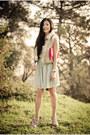 Light-blue-silk-betsey-johnson-dress-light-pink-heels-miu-miu-heels