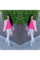white James Jeans jeans - bubble gum Line & Dot blazer
