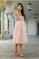 light pink American Apparel dress - light pink H&M skirt