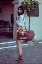 tawny bow kate spade bag - dark brown suede Chloe boots