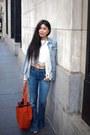 Flare-goldsign-jeans-denim-levis-jacket-drawstring-vince-camuto-bag