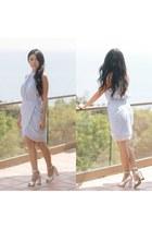 periwinkle keepsake dress - silver 31 Phillip Lim heels