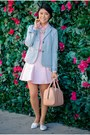 Gap-blazer-top-skirt-spring-flats-watch