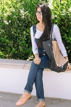 camel tote Graf & Lantz bag - white simple Threads 4 Thought shirt