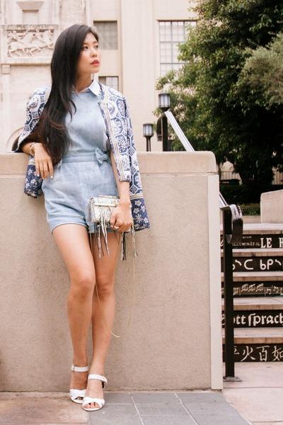 classic Boohoo coat - collar Boohoo shirt - satchel katherine Kwei bag