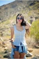 white feminine Guess shirt - light blue Guess shirt