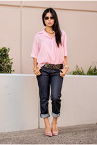 lia sophia necklace - navy and jeans - ted baker sunglasses - Hollywould pumps