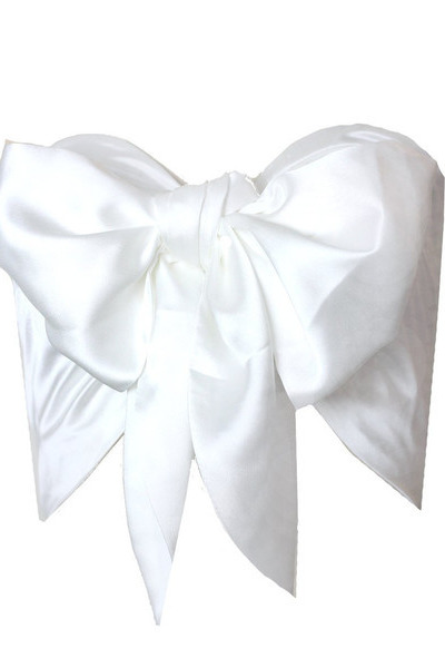 white bow  100 silk GoodNight Macaroon top