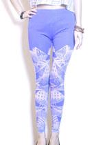 violet GoodNight Macaroon leggings