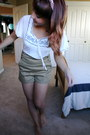 Camel-urban-outfitters-shorts-ivory-modcloth-blouse