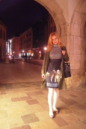 Wolford tights - Primark shoes - united colors of benetton coat - Rossini purse