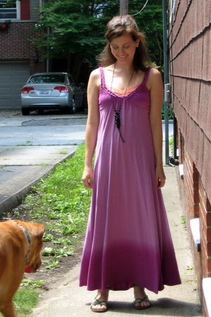 purple Old Navy dress - green American Eagle shoes - orange American Eagle intim