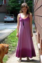 purple Old Navy dress - green American Eagle shoes - orange American Eagle intim