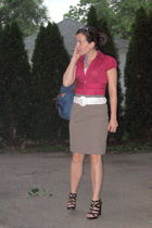pink Limited blouse - brown Limited skirt - white American Eagle belt - brown si