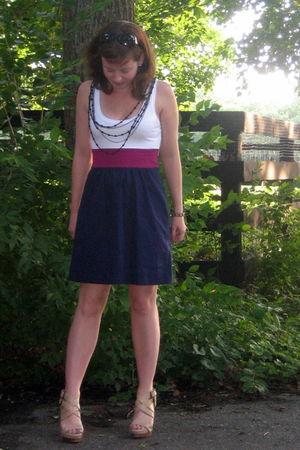purple Express dress - beige BCBG via DSW shoes