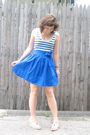 Blue-topshop-dress-red-toms-shoes-silver-berks-necklace