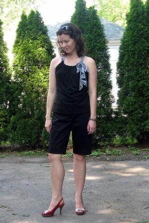 black Limited blouse - black Limited shorts - red Madden Girl via DSWcom shoes