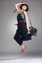blue GOWIGASA suit - blue GOWIGASA top - blue Retro Gogo accessories - red Ruby