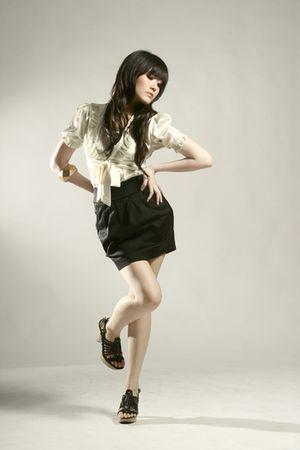 beige GOWIGASA top - black GOWIGASA skirt - gold unbranded bracelet - black DKNY