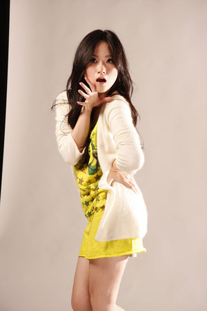 beige GOWIGASA cardigan - yellow GOWIGASA t-shirt