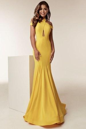yellow jasz couture dress - black CINDERELLA DIVINE dress