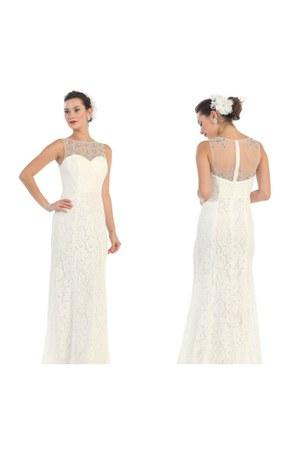wedding dress May Queen Bridal earrings