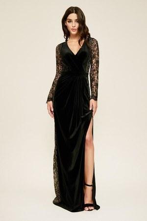 black long sleeve TADASHI SHOJI dress - plus size TADASHI SHOJI dress