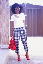 jumia bag - thrifted vintage pants - Atmosphere pumps - River Island top