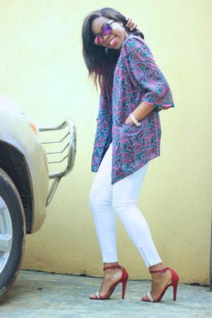 diva shoes - Monki jeans - thrifted vintage jacket