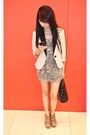 Topshop-dress-forever-21-blazer-charles-keith-heels