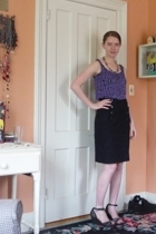 H&M top - H&M skirt - Rocket Dog shoes - handmade necklace