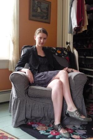 H&M blazer - Max Studio dress - Jeffrey Campbell shoes