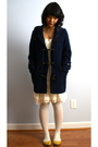 Blue-american-eagle-jacket-white-hue-tights-white-marshalls-dress
