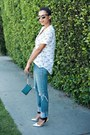 Blue-wrangler-jeans-white-equipment-blouse-silver-shoemint-pumps