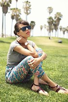 Forever 21 pants - vintage sunglasses - Movado watch - LnA t-shirt
