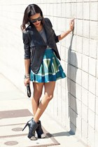 teal Club Monaco skirt - black Jessica Simpson boots - black SW3 Bespoke jacket