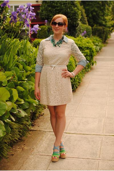 Peach Lace H&m Dress