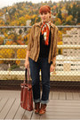 Tawny-boots-navy-gap-jeans-light-brown-leopard-print-thrifted-cardigan