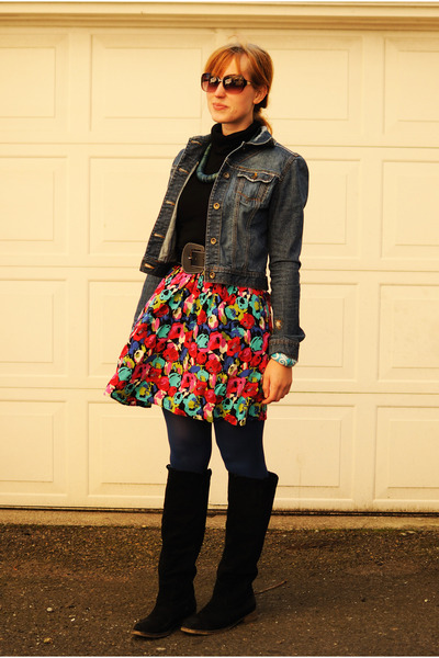 Fall Dresses With Jackets blue jean jacket black suede