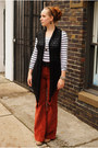 White-striped-h-m-top-black-crocheted-vest